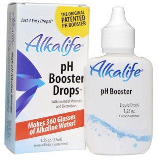Alkalife, pH Booster, gotas, 1,25 oz (37 ml)