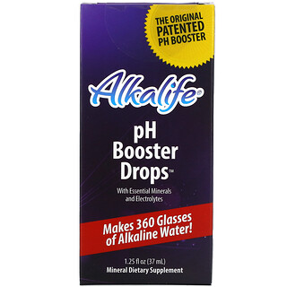 Alkalife, pH Booster Drops with Essential Minerals and Electrolytes, 1.25 fl oz (37 ml)