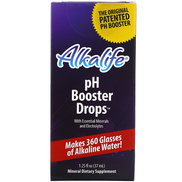 pH Booster Drops with Essential Minerals and Electrolytes, 1.25 fl oz (37 ml)