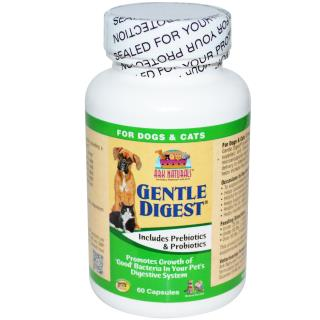 Ark Naturals, Gentle Digest, Includes Prebiotics & Probiotics, For Dogs & Cats,  60 Capsules