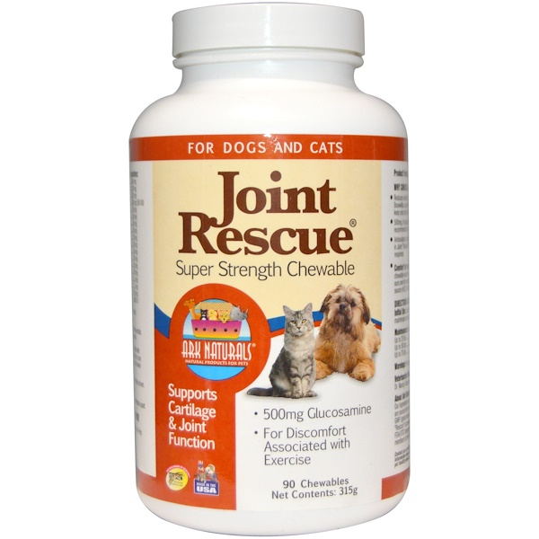 Ark Naturals, Joint Rescue, Super Strength Chewable, For Dogs & Cats, 90 Chewables (315 g) (Discontinued Item)