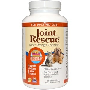 Арк Натуралс, Joint Rescue, Super Strength Chewable, For Dogs & Cats, 90 Chewables (315 g) отзывы