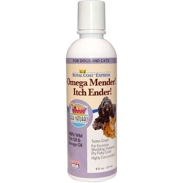 Ark Naturals, Royal Coat Express, Omega Mender! Itch Ender!, For Cats & Dogs, 8 fl oz (237ml) (Discontinued Item)