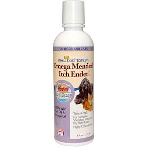 Арк Натуралс, Royal Coat Express, Omega Mender! Itch Ender!, For Cats & Dogs, 8 fl oz (237ml) отзывы покупателей