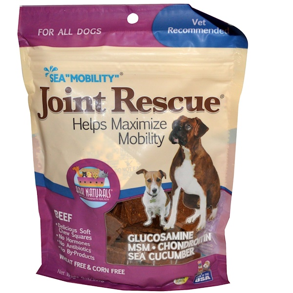 "Ark Naturals, Sea ""Mobility"", Joint Rescue, For All Dogs, Beef, 9 oz (255 g) (Discontinued Item)"