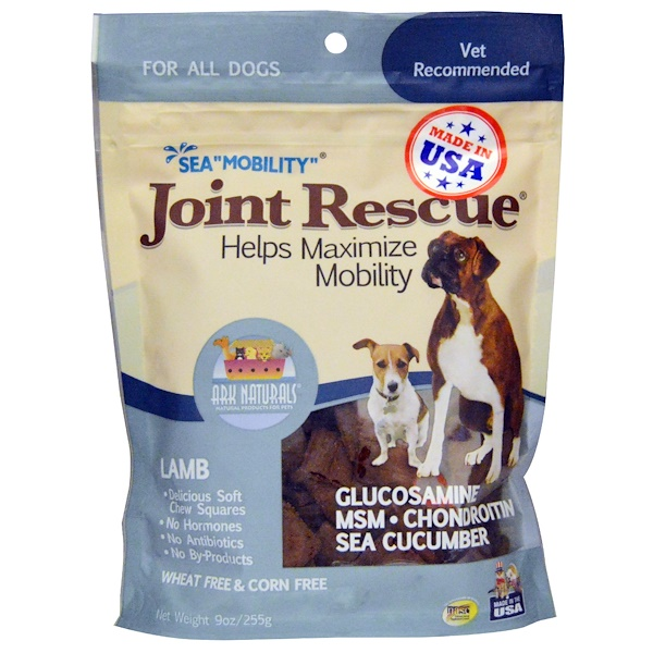 "Ark Naturals, Sea ""Mobility"", Joint Rescue, For All Dogs, Lamb, 9 oz (255 g) (Discontinued Item)"