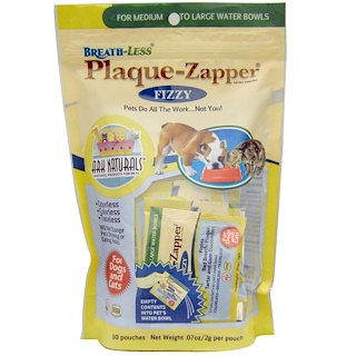 Ark Naturals, Breath-Less, Plaque-Zapper, Fizzy, For Dogs & Cats, 30 Pouches, .07 oz (2 g) Each