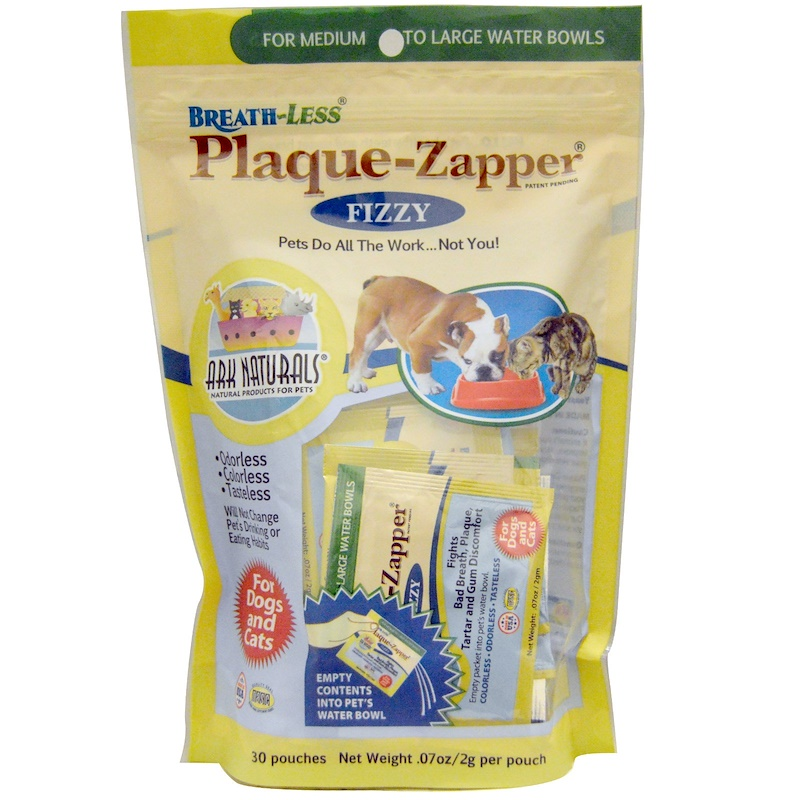 Breath-Less, Plaque-Zapper, Fizzy, For Dogs & Cats, 30 Pouches, .07 oz (2 g) Each