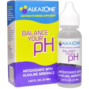 Alkazone, Нормализация рН-баланса, антиоксиданты с щелочными минералами, 1,25 унции (37 мл)