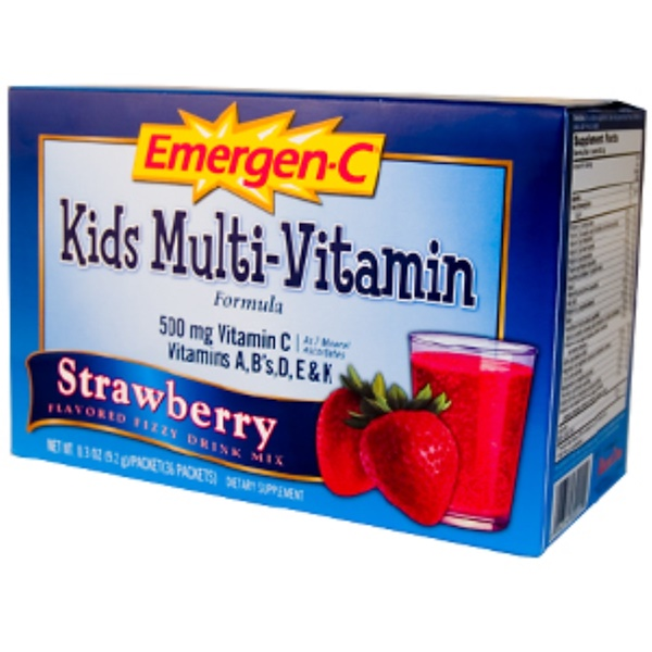 Emergen-C, Emergen-C, Kids Multi-Vitamin Formula, Strawberry, 36 Packets, 0.3 oz (9.2 g) Each (Discontinued Item)