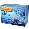 Emergen-C, Blue, 1000 mg Vitamin C, Triple Berry, 30 Packets, 8.4 g Each (Discontinued Item)