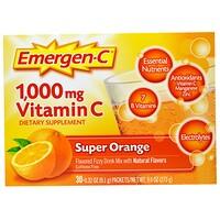1000 мг витамина С, супер-апельсин, 30 пакетов, 0,32 унции (9,1 г) каждый - фото