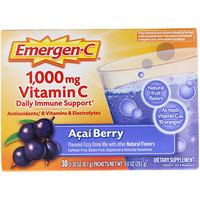 1000 мг, Витамин C, Ягоды асаи, 30 пакетиков по 8.4 г каждый - фото