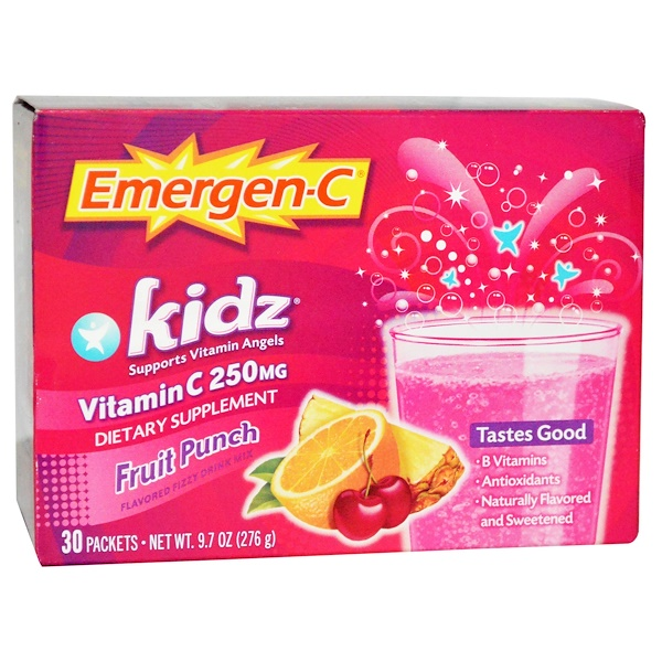 Emergen-C, Kidz, Fruit Punch, 30 Packets, 9.7 oz (276 g)