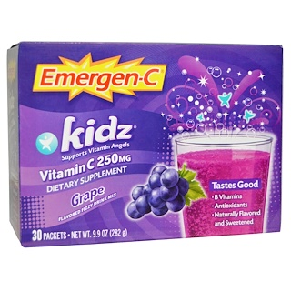 Emergen-C, Kids, Grape, 30 Packets, 9.4 g Each