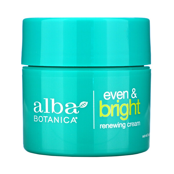 Alba Botanica, Even & Bright Renewing Cream with Swiss Alpine Complex, 2 oz (57 g) (Discontinued Item)