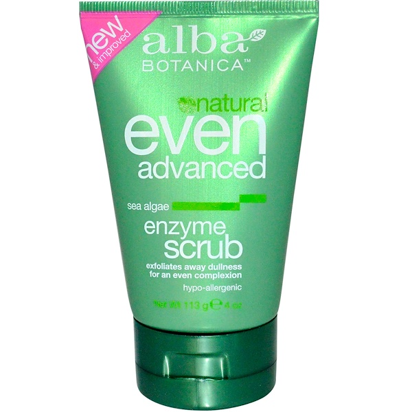 Alba Botanica, Natural Even Advanced, Enzyme Scrub, Sea Algae, 4 oz (113 g)