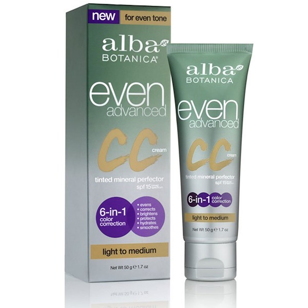 Alba Botanica, Even Advanced CC Cream, SPF 15, Light to Medium, 1.7 oz (50 g) (Discontinued Item)