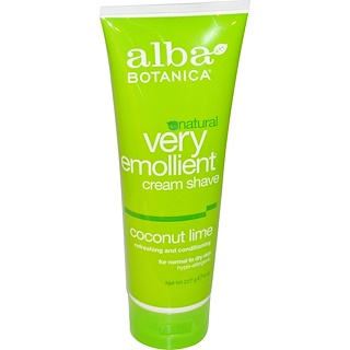 Alba Botanica, Natural Very Emollient, Cream Shave, Coconut Lime, 8 oz (227 g)