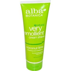 Алба Ботаника, Natural Very Emollient, Cream Shave, Coconut Lime, 8 oz (227 g) отзывы