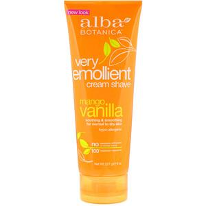 Алба Ботаника, Very Emollient Cream Shave, Mango Vanilla, 8 oz (227 g) отзывы покупателей
