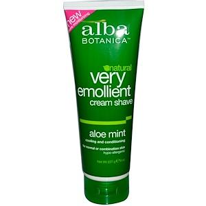 Алба Ботаника, Natural Very Emollient, Cream Shave, Aloe Mint, 8 oz (227 g) отзывы покупателей