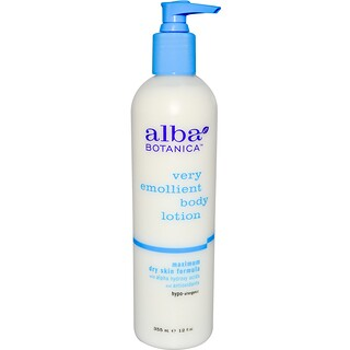 Alba Botanica, Very Emollient, Body Lotion, Maximum Dry Skin Formula, 12 fl oz (350 ml)