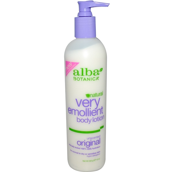 Alba Botanica, Natural Very Emollient, Body Lotion, Unscented Original, 12 oz (340 g) (Discontinued Item)