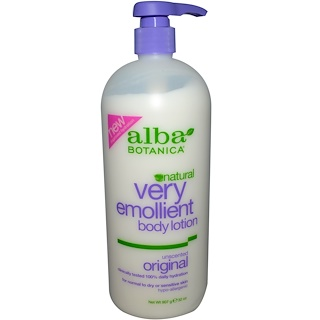 Alba Botanica, Natural Very Emollient Body Lotion, Unscented Original, 32 oz (907 g)