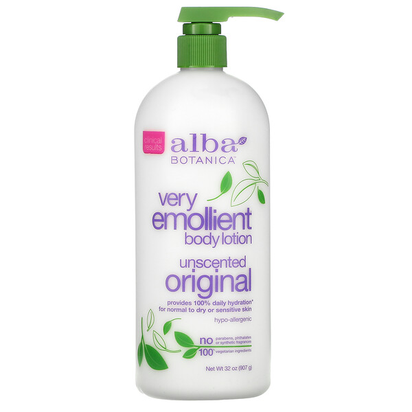 Very Emollient Body Lotion, Unscented, Original, 32 oz (907 g)