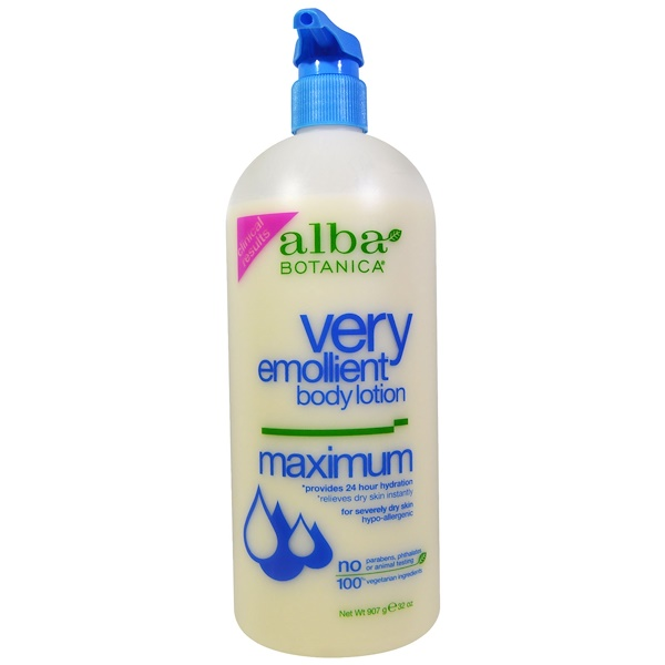 Alba Botanica, Very Emollient, Body Lotion, Maximum Dry Skin Formula, 32 oz (907 g)