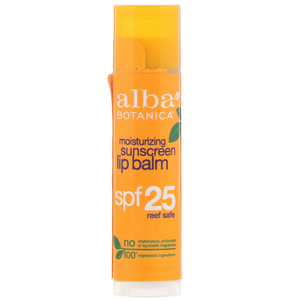 Moisturizing Sunscreen Lip Balm, SPF 25, 0.15 oz (4.2 g)