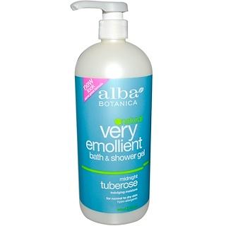 Alba Botanica, Natural Very Emollient, Bath & Shower Gel, Midnight Tuberose, 32 fl oz (946 ml)
