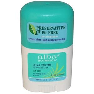 Алба Ботаника, Clear Enzyme Deodorant Stick, Tea Tree, 0.5 oz (14 g) отзывы