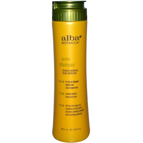 Alba Botanica, Gentle Shampoo, Advanced Botanical Color Protection, 8.5 fl oz (251 ml) (Discontinued Item)