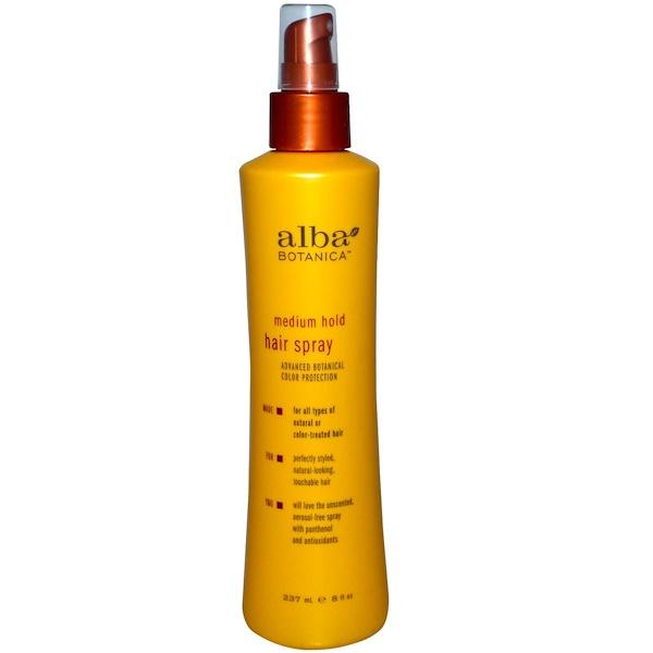 Alba Botanica, Спрей для волос, средней фиксации, 8 жидких унций (237 мл) (Discontinued Item)