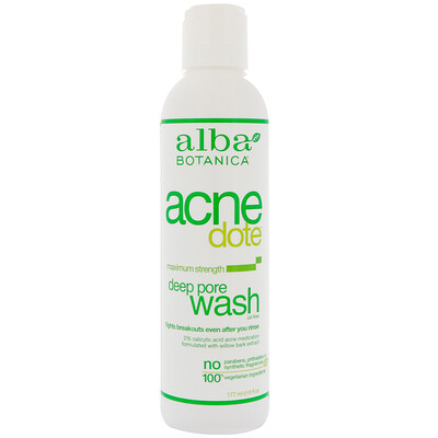 Acne Dote, средство от акне, глубокое очищение пор, не содержит масла, 177 мл (6 жидких унций)