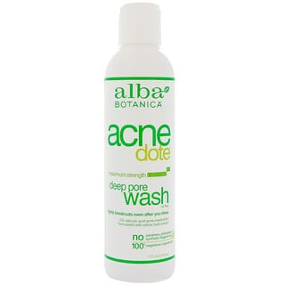 Alba Botanica, Acne Dote, Deep Pore Wash, Oil-Free, 6 fl oz (177 ml)