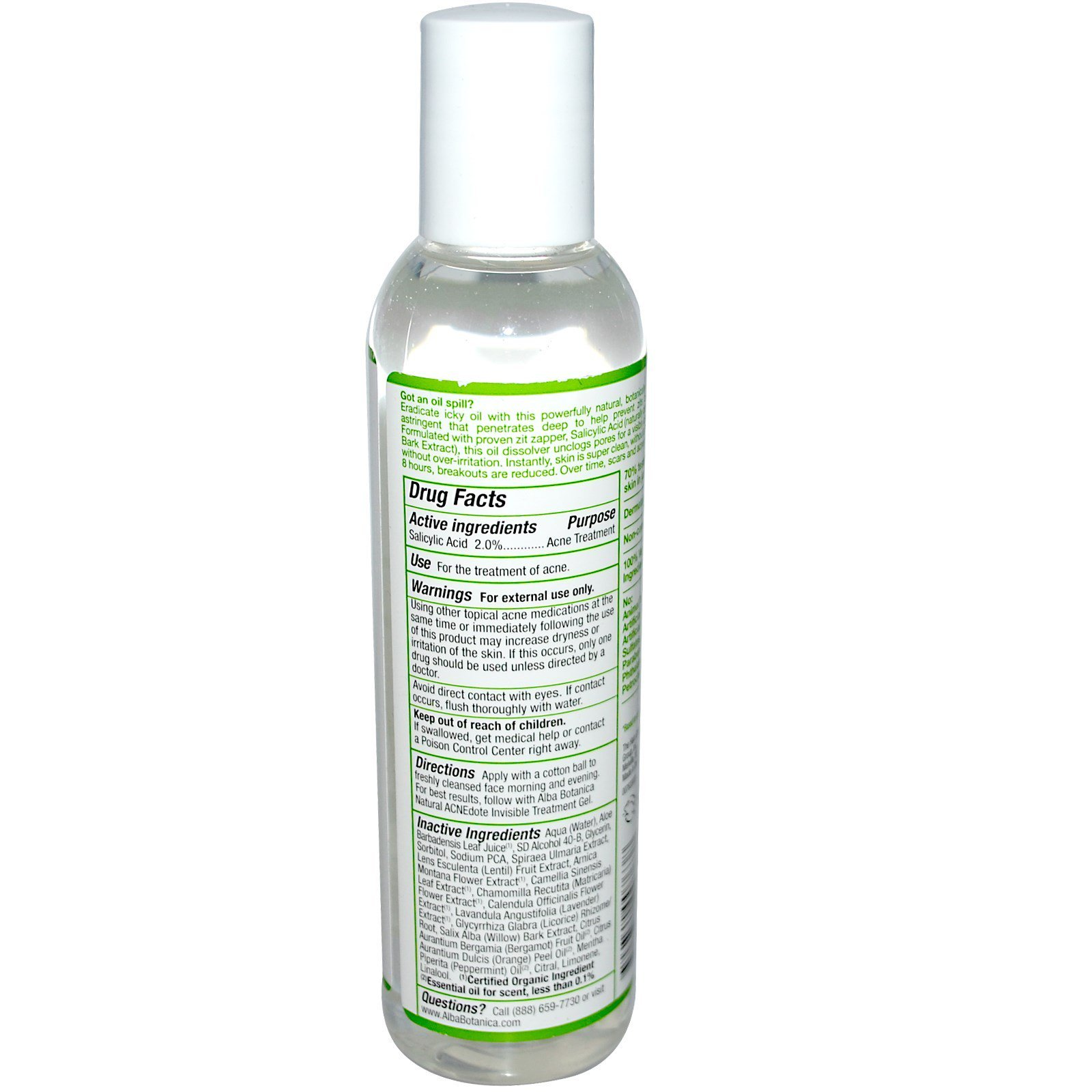 Alba Botanica Acne Dote Deep Clean Astringent Oil Free 6 Fl Oz Mineral Care Toner Click To Zoom