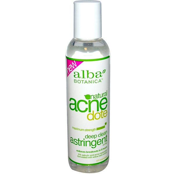 Alba Botanica, Acne Dote, Deep Clean Astringent, Oil-Free, 6 fl oz (177 ml)