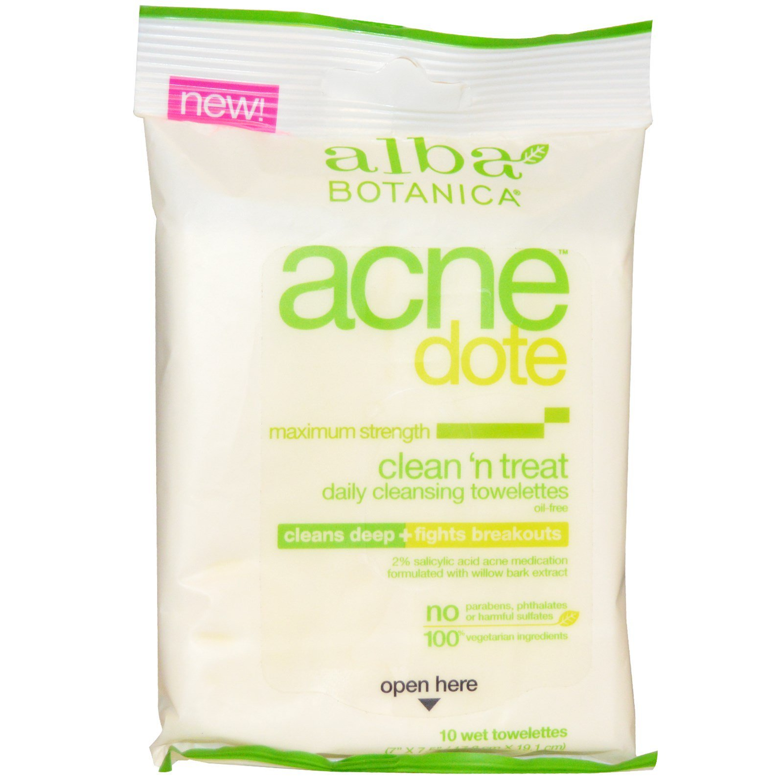 Alba Botanica Acnedote Clean n Treat Daily Cleansing Towelettes 30 ea (Pack of 2) Pevonia Botanica - Balancing Combination Skin Cream (New Packaging, Salon Size) -200g/6.8oz