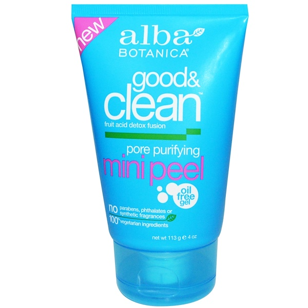 Alba Botanica, Good & Clean, Pore Purifying Mini Peel, 4 oz (113 g)