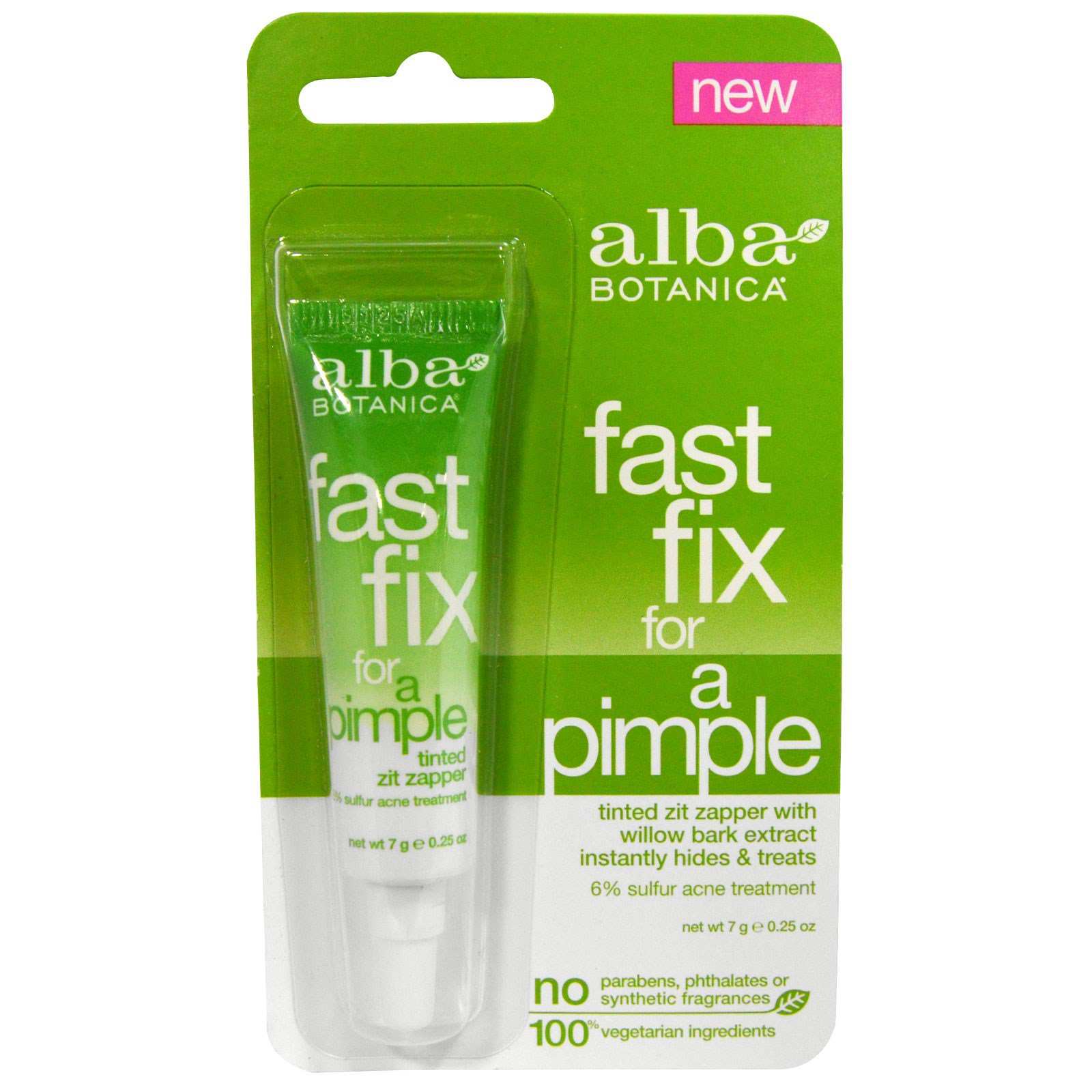 Alba Botanica, Fast Fix For A Pimple, 7 г (0,25 унц)