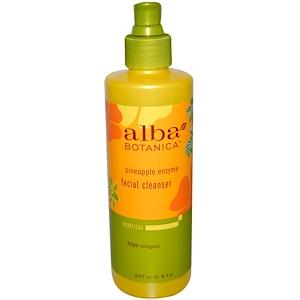 Alba Botanica, Очищающее средство для лица с ферментами ананаса, 8 жидких унций (237 мл) инструкция, применение, состав, противопоказания