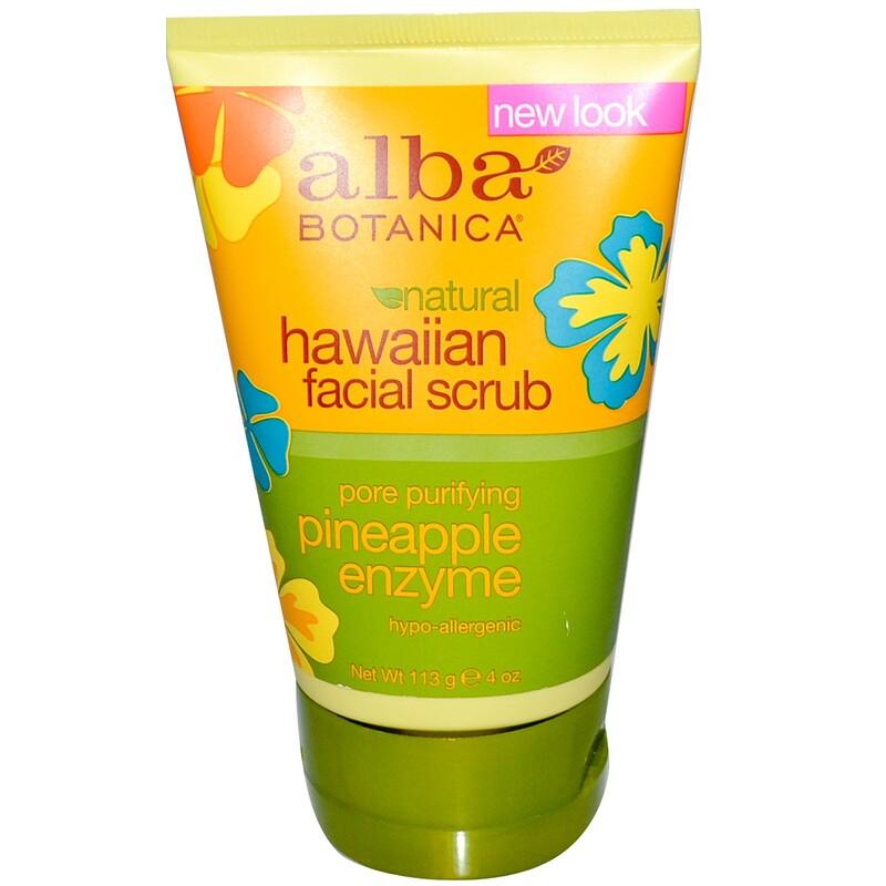 Natural Hawaiian Facial Scrub, Pineapple Enzyme, 4 oz (113 g)