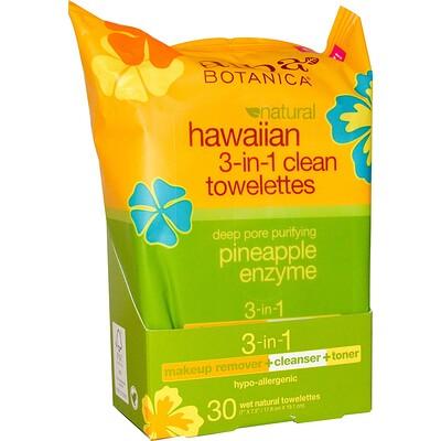 Купить Гавайские влажные салфетки для очистки 3-в-1, 30 природных влажных салфеток