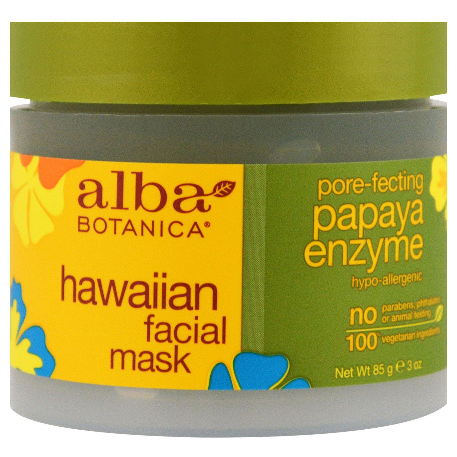 Alba Botanica, Hawaiian Facial Mask, Pore-Fecting Papaya