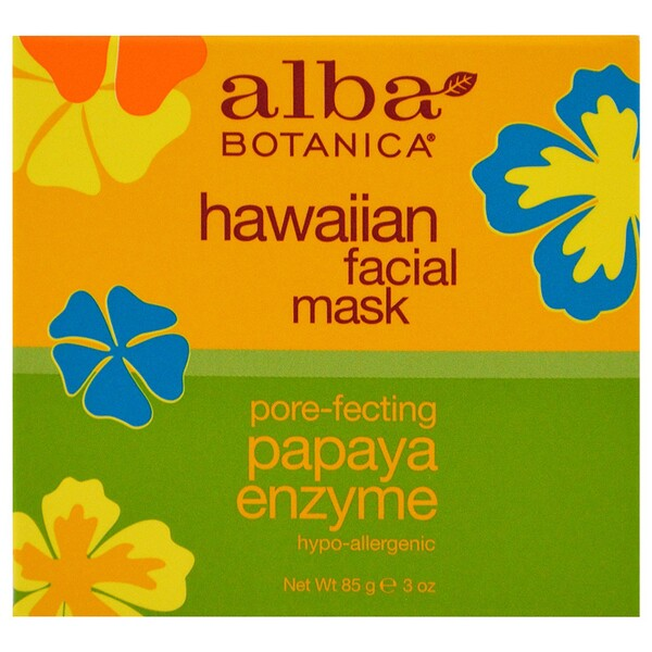 Hawaiian Beauty Facial Mask, Pore-Fecting Papaya Enzyme, 3 oz (85 g)