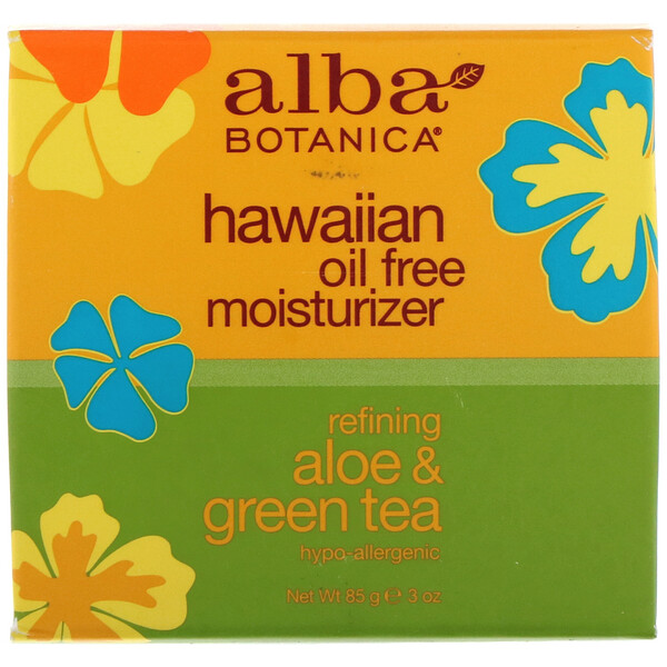 Hawaiian Oil Free Moisturizer, Refining Aloe & Green Tea, 3 oz (85 g)