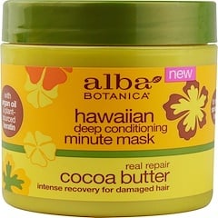 Alba Botanica, Hawaiian Deep Conditioning, Minute Mask, Cocoa Butter, 5.5 oz (156 g)